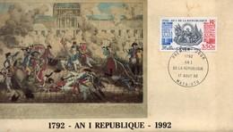 Wallis Et Futuna - Allégorie - 1792 - An I De La République - Carte -enveloppe 1er Jour 17 Août 1992 - Rare - TBE+ - Covers & Documents