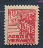 Sowjetische Zone (All.Bes.) 36z B Dünnes Papier Geprüft Postfrisch 1946 Abschiedsserie (7510405 - Zone Soviétique