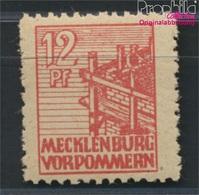 Sowjetische Zone (All.Bes.) 36z B Dünnes Papier Geprüft Postfrisch 1946 Abschiedsserie (8984701 - Zone Soviétique