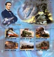 Guinea Bissau  2005 Steam Trains & Jules Verne - Guinea-Bissau