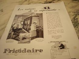 ANCIENNE PUBLICITE AUTOMOBILE DE FRANCE ET FRIGIDAIRE  1928 - Other