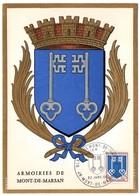 HERALDIQUE = 40 MONT De MARSAN 1966 = CARTE MAXIMUM + CACHET PREMIER JOUR N° 1469 ARMOIRIES - 1960-69