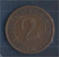 Deutsches Reich Jägernr: 307 1923 J Sehr Schön Bronze 1923 2 Rentenpfennig Ährengarbe (7862410 - [ 3] 1918-1933 : Weimar Republic