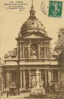 Paris Eglise De La Sorbonne Monuemnt Auguste Comte Polytechnique Né à Montpellier Envoi Adjoint Maire Aubigny Cher - Kirchen