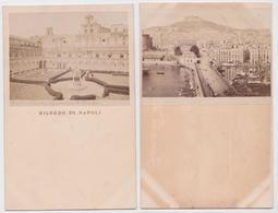 Ricordo Di NAPOLI - Lot De 2 Carte-photos - Napoli (Naples)