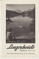 LENZERHEIDE - VALBELLA - 1948 - DER BELIEBTE SOMMER KURORT AN DER JULIERROUTE - Folletos Turísticos
