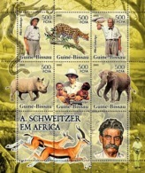 Guinea Bissau  2005 Fauna Of Africa & A. Schweitzer  Elephant  Rhino - Guinea-Bissau