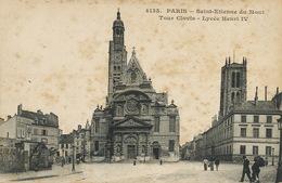 Paris Eglise St Etienne Du Mont, Tour Clovis  Lycée Henri IV  ELD - Kirchen