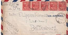 USA 1941 PLI AERIEN DE NEW YORK POUR BETTEMBOURG - United States