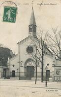 Paris Eglise St Marcel Une Dechirure En Bas  Publicité Soie - Kirchen