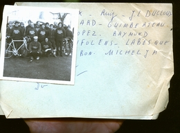CREON LIBOURNE    ET SES ENVIRONS   CYCLISTE COURSE           PHOTO ANNEES 60 / 70 /80 - Andere Gemeenten