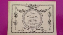CH.FAY  EAU DE TOILETTE  / ANCIENNES - Parfumkaarten