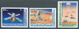 Mauritanie Poste Aérienne YT N°175/177 Opération Viking Sur Mars Neuf ** - Mauritanie (1960-...)