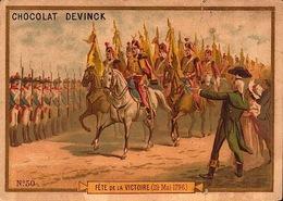 2 Chromos Didactique Chocolat Devinck Histoire De France - Bill-867 - R/V - Chocolat