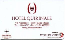 ITALIA KEY HOTEL  Hotel Quirinale  - ROMA - Cartes D'hotel