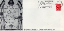 Bicentenaire De La République - Révolution Française - 1792 - 2 Enveloppes Illustrées + 4 Timbres Neufs Série Complète - - France