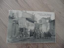 CPA 13 Bouches Du Rhône Ensues Café Hôtel Restaurant Du Centre - Autres Communes