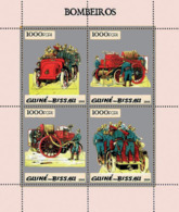 Guinea Bissau 2005 Fire Engines Silver Embossed - Guinea-Bissau