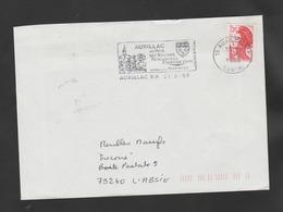 Flamme Dpt 15 : AURILLAC RP (SCOTEM N°  9065 émise Le 17/03/1988) : Au Pays De Volcans - Rencontres - Tourisme Vert - Marcofilia (sobres)