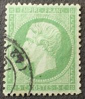 DF50478/569 - NAPOLEON III N°20 - CàD - LUXE - BON CENTRAGE - VARIETE ➤➤➤ Filet Sud Incomplet - 1862 Napoleon III