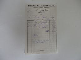 Facture Atelier De Maréchalerie A. Goubet à Fins (80). - Francia