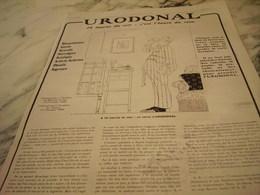 ANCIENNE PUBLICITE L HEURE DU REIN URODONAL  1919 - Other