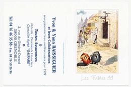 Calendrier De Poche 1999 Les Fables De La Fontaine Le Pot De Terre Et Le Pot De Fer Collection Kharbine-Tapabor* - Calendari