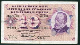 Switzerland 10 Francs 1959 Fine - Zwitserland