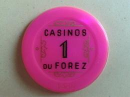 Jeton De 1. CASINOS DU FOREZ. N° De Série 1388 - Casino