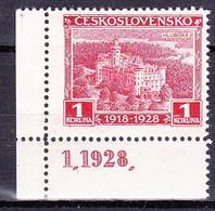 ** Tchécoslovaquie 1928 Mi 271 (Yv 246), (MNH), Avec No De Planche - Unused Stamps
