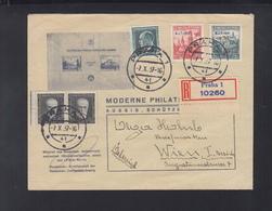 Czechoslovakia Cover BIT 1937 - Czechoslovakia