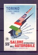 CINDERELLA ERINNOFILIA TORINO SALONE DELL'AUTOMOBILE 1953    (GIUGN1900B57) - Erinnofilia