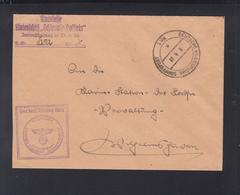 Dt. Reich Kriegsmarine Schiffspost 1938 Linienschiff Schleswig Holstein - Storia Postale