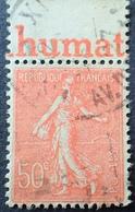 R1934/164 - 1924 - TYPE SEMEUSE LIGNEE - N°199 Avec Bande Publicitaire - Werbung
