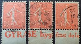 R1934/166 - 1924 - TYPE SEMEUSE LIGNEE - N°199 Avec Bande Publicitaire - Werbung