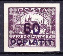 * Tchécoslovaquie 1922 Mi D 37 (Yv TT 24), (MH), Trace De Charniere - Postage Due