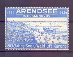 CINDERELLA ERINNOFILIA ARENDSEE 1934   (GIUGN1900B63) - Erinnofilia