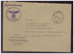 Dt- Reich (008098) Dienstbrief Uni Straßburg Mit Adler Dienststempel, Gelaufen Nach München Am 22.6.1944 - Germany