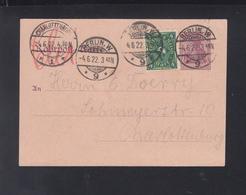 Dt. Reich Rohrpost 1922 Berlin ZF - Briefe U. Dokumente