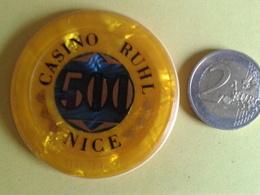 Jeton De 500. CASINO RUHL NICE. N° De Série 01100 - Casino