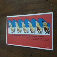 """Cartolina Postale Illustrata 1900 """"DIE ENTWICKLUNG NACH DER DARWIN'SCHEN THEORIE"""" - Künstlerkarten"""