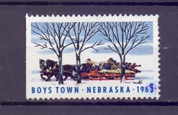CINDERELLA ERINNOFILIA BOYS TOWN NEBRASKA1963   (GIUGN1900B67) - Erinnofilia