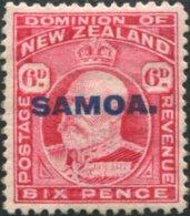 Samoa 1914 SG119 6d Carmine KEVII With SAMOA. Ovpt MNH - Samoa