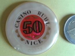 Jeton De 50. CASINO RUHL NICE. N° De Série 02303 - Casino