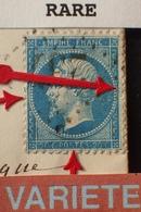 R1917/206 - NAPOLEON III N°22 Sur ✉️ Du 5 SEPT 1866 D'AURILLAC à TERRASSON - VARIETE ➤➤➤ RETOUCHE DU POURTOUR (RARE+++) - 1862 Napoléon III