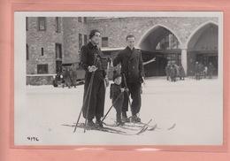 OLD  PHOTO POSTCARD -  SWITZERLAND - ST. MORITZ - WINTERSPORT - SKI - POSTAUTO - GR Grisons