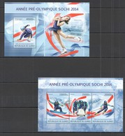 ST1325 2013 GUINEE GUINEA SPORT WINTER OLYMPIC GAMES SOCHI PRE-OLYMIC YEAR KB+BL MNH - Inverno 2014: Sotchi