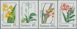 Samoa 1989 SG818-821 Orchids Set MNH - Samoa
