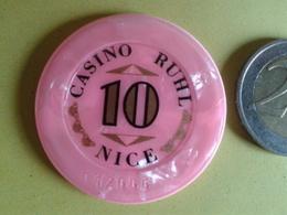 Jeton De 10. CASINO RUHL NICE. N° De Série 12666 - Casino