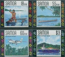 Samoa 1990 SG840-843 Transport Set MNH - Samoa